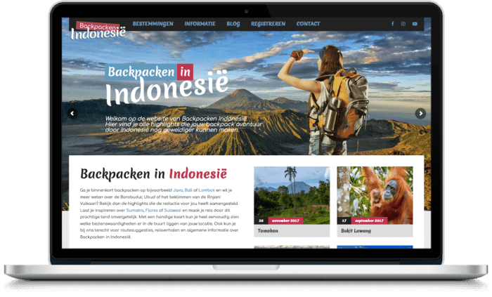 Samenwerking Backpacken Indonesie en More Online Marketing 2021