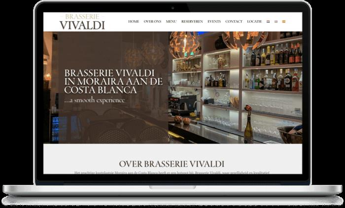 Brasserie Vivaldi Webdesign Moraira