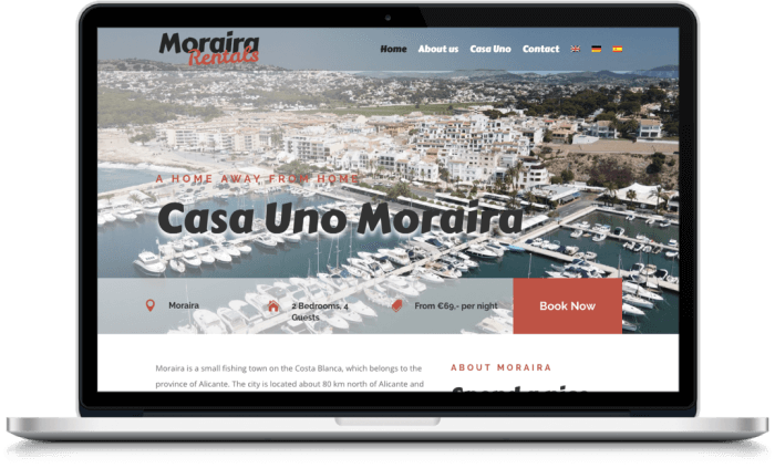 Samenwerking Moraira Rentals en More Online Marketing 2021