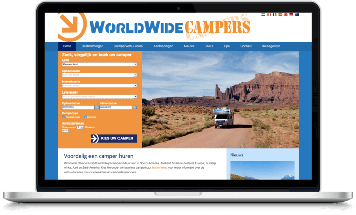 Samenwerking WorldWideCampers en More Online Marketing 2021